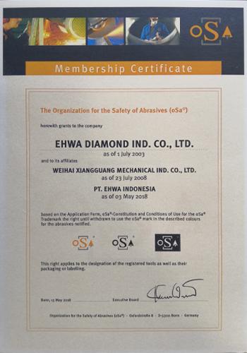 EHWA Diamond Organization for the Safety of Abrasives